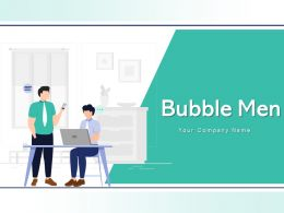 Bubble Men Icon Speech Bubbles Thinking Talking