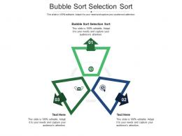 Bubble Sort Selection Sort Ppt Powerpoint Presentation Layouts Cpb