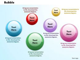 Bubbles PowerPoint Template Slide 1
