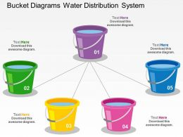 bucket_diagrams_water_distribution_system_flat_powerpoint_design_Slide01