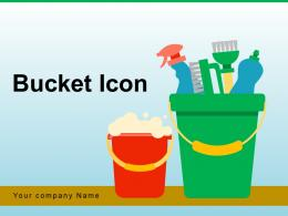 Bucket Icon Carriage Gardening Plastic Bubbles