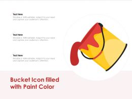 Bucket Icon Filled With Paint Color