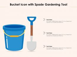 Bucket Icon With Spade Gardening Tool