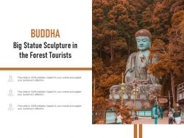 Buddha Big Statue Sculpture In The Forest Tourists