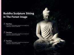 Buddha Sculpture Sitting In The Forest Image