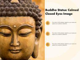 Buddha Statue Calmed Closed Eyes Image