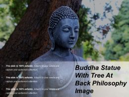 Buddha Statue With Tree At Back Philosophy Image