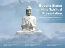 Buddha Status On Hills Spiritual Presentation