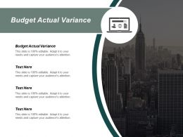 Budget Actual Variance Ppt Powerpoint Presentation Pictures Layout Cpb