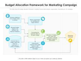 Budget Allocation Framework For Marketing Campaign