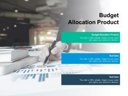 Budget Allocation Product Ppt Powerpoint Presentation Infographic Template Designs Download Cpb