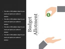 Budget Allotment Powerpoint Presentation Examples