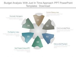 Budget Analysis With Just In Time Approach Ppt Powerpoint Templates Download
