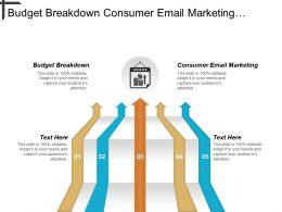 Budget Breakdown Consumer Email Marketing Marketing Knowledge Management Cpb