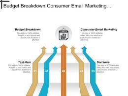 Budget Breakdown Consumer Email Marketing Marketing Knowledge Management Cpb