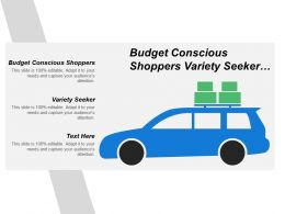 Budget Conscious Shoppers Variety Seeker Environmentally Aware Cost Benefit