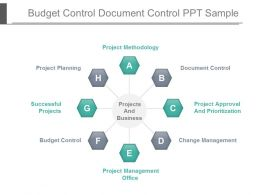 Budget Control Document Control Ppt Sample