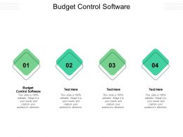 Budget Control Software Ppt Powerpoint Presentation Styles Outfit Cpb