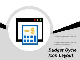 Budget Cycle Icon Layout