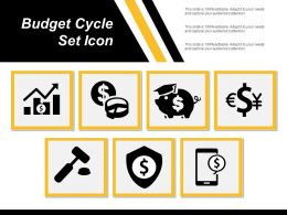 Budget Cycle Set Icon