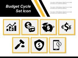 Budget Cycle Set Icon