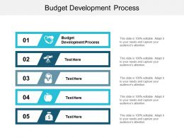 Budget Development Process Ppt Powerpoint Presentation File Tips Cpb