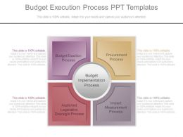 Budget Execution Process Ppt Templates