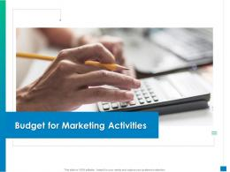 Budget For Marketing Activities New Business Development And Marketing Strategy Ppt Styles