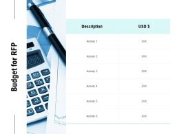 Budget For RFP Ppt Powerpoint Presentation Gallery Portrait