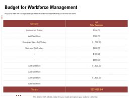 Budget For Workforce Management Back End Ppt Powerpoint Presentation Portfolio Visual Aids