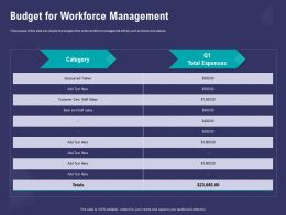 Budget For Workforce Management Outsourced Powerpoint Presentation Maker