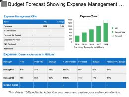 Budget Forecast Showing Expense Management And Expenses