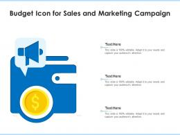 Budget Icon For Sales And Marketing Campaign