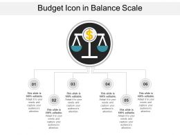 Budget Icon In Balance Scale