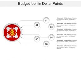 Budget Icon In Dollar Points