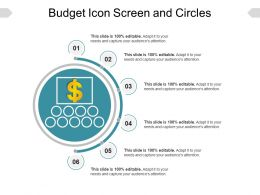 Budget Icon Screen And Circles