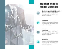 Budget Impact Model Example Ppt Powerpoint Presentation Layouts Images Cpb