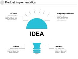 Budget Implementation Ppt Powerpoint Presentation File Skills Cpb
