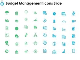 Budget Management Icons Slide Calender Ppt Powerpoint Presentation Pictures Icon