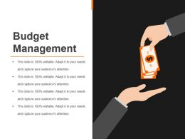 Budget Management Sample Of Ppt