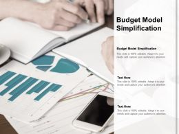 Budget Model Simplification Ppt Powerpoint Presentation Introduction Cpb