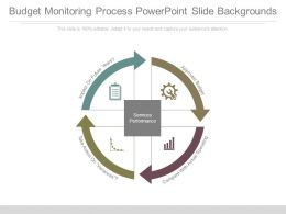 Budget Monitoring Process Powerpoint Slide Backgrounds
