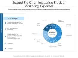 Budget Pie Chart Indicating Product Marketing Expenses