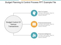 Budget Planning And Control Process Ppt Example File