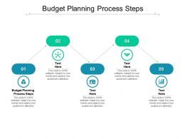 Budget Planning Process Steps Ppt Powerpoint Presentation Infographics Structure Cpb