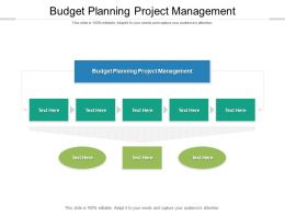 Budget Planning Project Management Ppt Powerpoint Presentation Rules Cpb