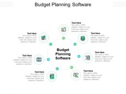 Budget Planning Software Ppt Powerpoint Presentation Inspiration Deck Cpb