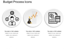 Budget Process Icons Powerpoint Graphics