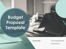 Budget Proposal Template Powerpoint Presentation Slides