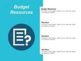 Budget Resources Ppt Powerpoint Presentation Ideas Layout Ideas Cpb
